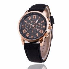 Đồng hồ nữ dây giả da Geneva JS LM024_BL9772 (Đen)