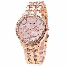 Đồng hồ nữ dây hợp kim Geneva PKHRGE004-2 (Vàng hồng)