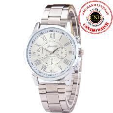 Đồng hồ nữ dây hợp kim Geneva GE005-3 (Bạc)