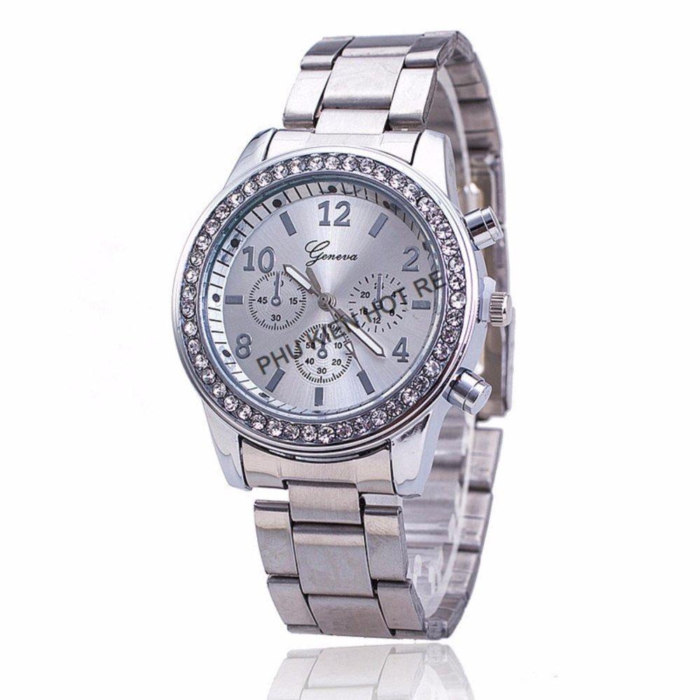 Đồng hồ nữ dây hợp kim Geneva PKHRGE016-4 (Bạc)