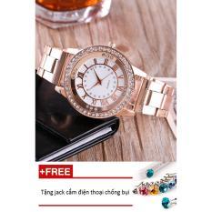 Đồng hồ nữ dây hợp kim Geneva PKHRGE048-2 (vàng hồng) + Tặng 1 jack chống bụi cho điện thoại