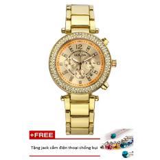 Đồng hồ nữ dây hợp kim Geneva PKHRGE052-1 (vàng) + Tặng 1 jack chống bụi cho điện thoại