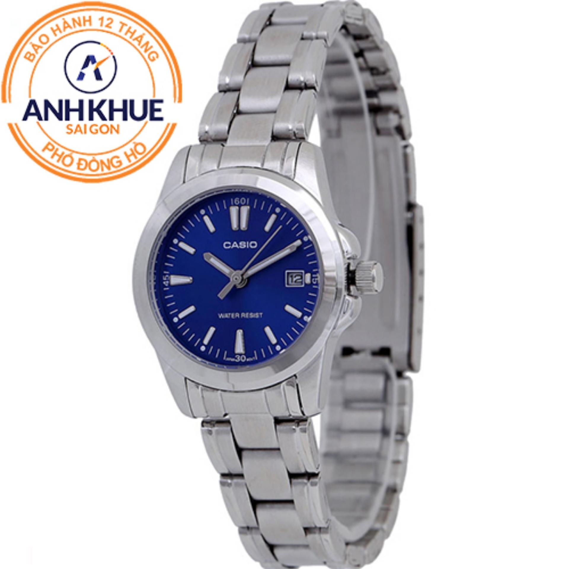 Đồng hồ nữ dây kim loại Casio Anh Khuê LTP-1215A-2A2DF