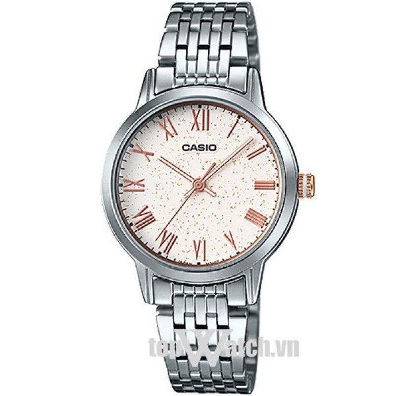 Nơi bán Đồng hồ nữ dây kim loại Casio standard LTP-TW100D-7AVDF(Mặt Trắng)