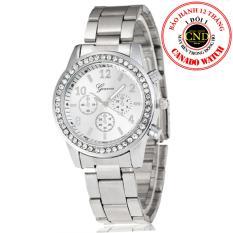 Đồng hồ nữ dây kim loại đính đá cao cấp Geneva – BQ161-TRANG