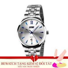 Đồng hồ nữ dây kim loại SKMEI 0511.08NA (Trắng)Tặng Kèm 02 Đôi Tất