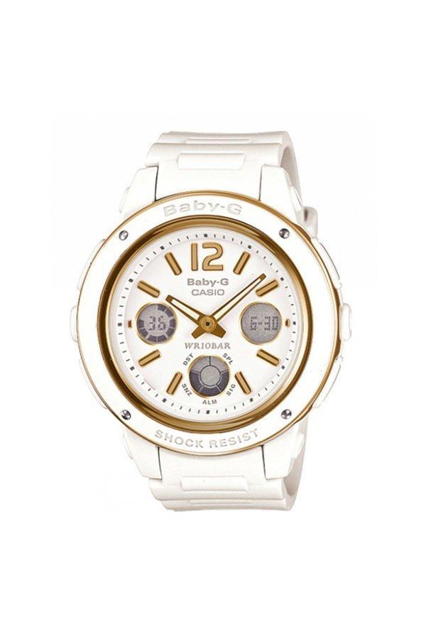 Đồng hồ nữ dây nhựa Baby-G BGA-151-7B (Trắng)