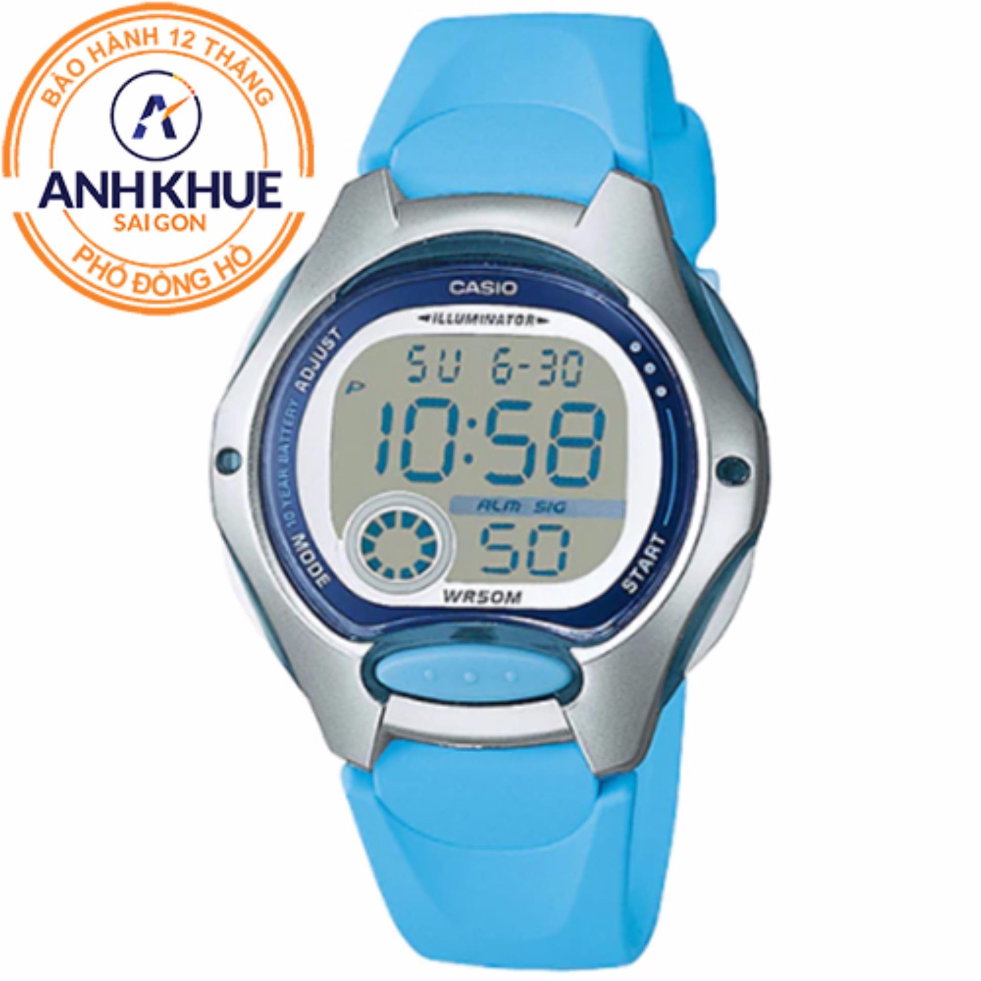 Đồng hồ nữ dây nhựa Casio Anh Khuê LW-200-2BVDF