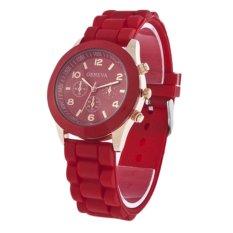Đồng hồ nữ dây nhựa dẻo Geneva GN3 (Đỏ)