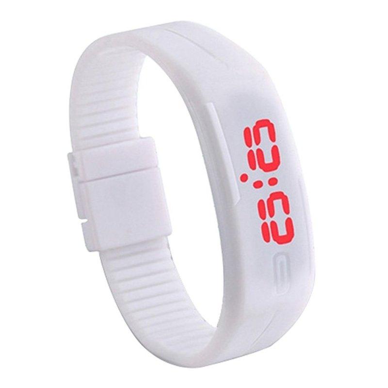 Nơi bán Đồng hồ nữ dây nhựa Sport LED (Trắng)