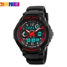 Đồng hồ nữ dây nhựa Sport Skmei S-Shock 10KN60-02 (Mặt Đen Đỏ)