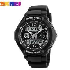 Đồng hồ nữ dây nhựa Sport Skmei S-Shock 10KN60-02 (Mặt Đen Trắng)