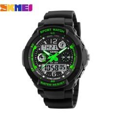 Đồng hồ nữ dây nhựa Sport Skmei S-Shock 10KN60-02 (Xanh Lá)