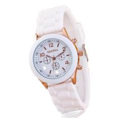 Đồng hồ nữ dây silicon Geneva đẹp, cá tính (Trắng)