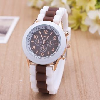 Đánh Giá Đồng hồ nữ dây silicon thời trang Geneva 8299B (Nâu)