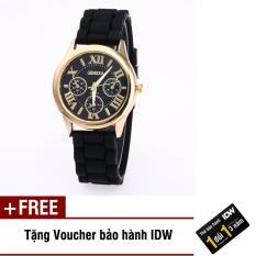 [Có video quay thật] Đồng hồ nữ dây silicon thời trang Geneva IDW S0561 (Nhiều màu lựa chọn) + Tặng kèm voucher bảo hành IDW
