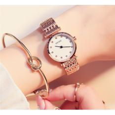 Đồng hồ nữ dây thép cao cấp GUOU 8060 (trắng)
