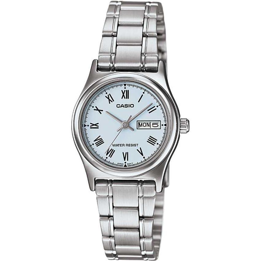 Đồng hồ nữ dây thép Casio LTP-V006D-2BUDF (Bạc)