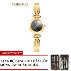 Giảm Giá Đồng hồ nữ dây thép đính đá YOHEMEI CH371 – D1A + GD01 + Tặng bộ cắt móng tay ngẫu nhiên  Tini shop