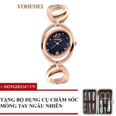 So Sánh Giá Đồng hồ nữ dây thép đính đá YOHEMEI CH373 – D1A + GD01 + Tặng bộ cắt móng tay ngẫu nhiên  Tini shop