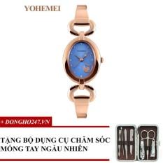 Đồng hồ nữ dây thép đính đá YOHEMEI CH390 – 2A + GD01 + Tặng bộ cắt móng tay ngẫu nhiên