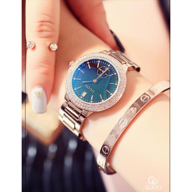 Nơi bán Đồng hồ nữ dây thép không gỉ cao cấp Guou 8141