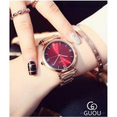 Đồng hồ nữ dây thép không gỉ cao cấp Guou 8149