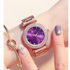 Đồng hồ nữ dây thép không gỉ cao cấp Guou TPO-Gu112 (trắng)