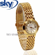Đồng hồ nữ dây thép không gỉ cao cấp HALEI 4674L (Mặt trắng)