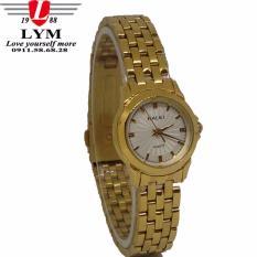 Đồng hồ nữ dây thép không gỉ cao cấp HALEI 481L (mặt trắng)