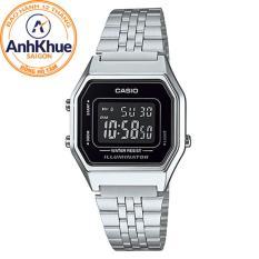 Đồng hồ nữ dây thép không gỉ Casio LA680WA-1BDF
