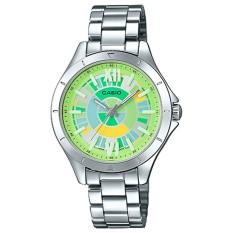 Đồng hồ nữ dây thép không gỉ Casio LTP-E129D-3ADF (Xanh bạc)