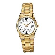 Đồng hồ nữ dây thép không gỉ Casio LTP-V002G-7BUDF
