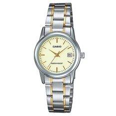 Đồng hồ nữ dây thép không gỉ Casio LTP-V002SG-9AUDF