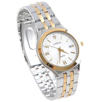 Đồng hồ nữ dây thép không gỉ Citole CT5098LV (Dây bạc phối vàng)