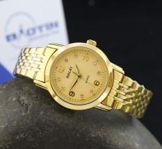 Đồng hồ nữ dây thép không gỉ Halei mạ vàng DHNL1032