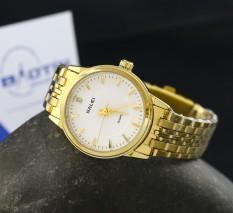 Đồng hồ nữ dây thép không gỉ Halei mạ vàng HA552