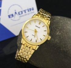 Đồng hồ nữ dây thép không gỉ Halei mạ vàng DHNL1041