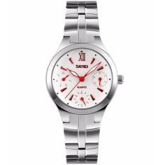 Đồng hồ nữ dây thép không gỉ Skmei 91KCN32 (Đỏ)