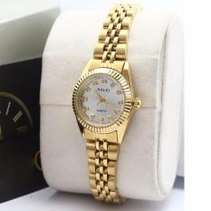 Đồng hồ nữ dây thép màu vàng V6 001 chống nước HALEI
