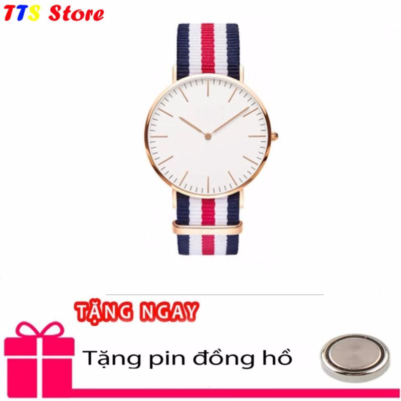 Nơi bán Đồng hồ Nữ dây vải 3 màu chống nước TTS + Tặng pin đồng hồ