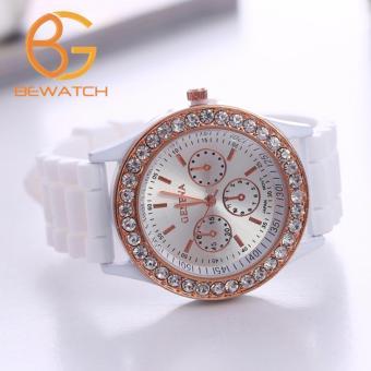 Đồng hồ nữ Geneva dây cao su trắng