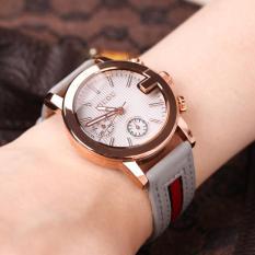 Đồng hồ nữ GUOU 5 kim dây da phối vải thời trang MDL-G8073