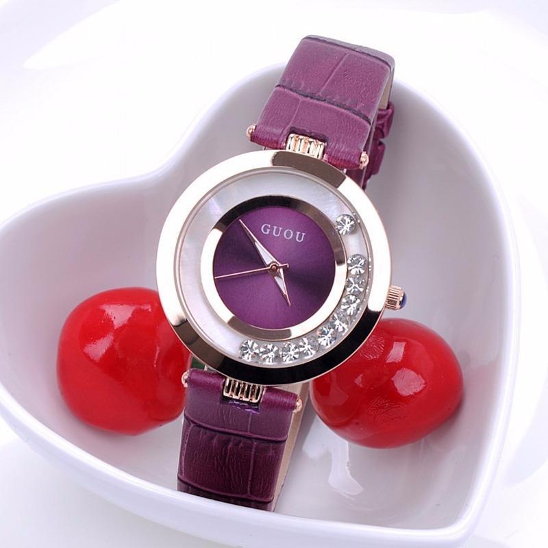 Đồng hồ nữ GUOU đá chạy thời trang GR-G0474