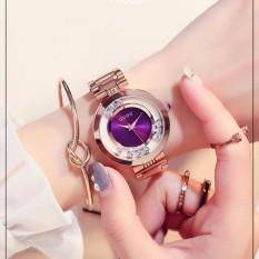 Đồng hồ nữ GUOU mặt đá chạy, dây thép quý phái G36-96