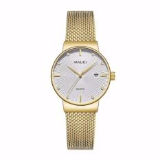 Giá Niêm Yết Đồng hồ nữ Halei 1533 dây mành vàng mặt trắng