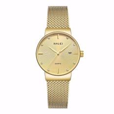 Đồng hồ nữ Halei 1533 màu vàng chống nước