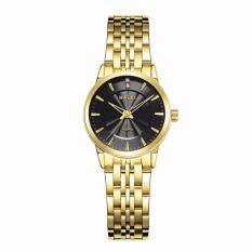 Đồng hồ nữ Halei 154 dây vang mặt đen