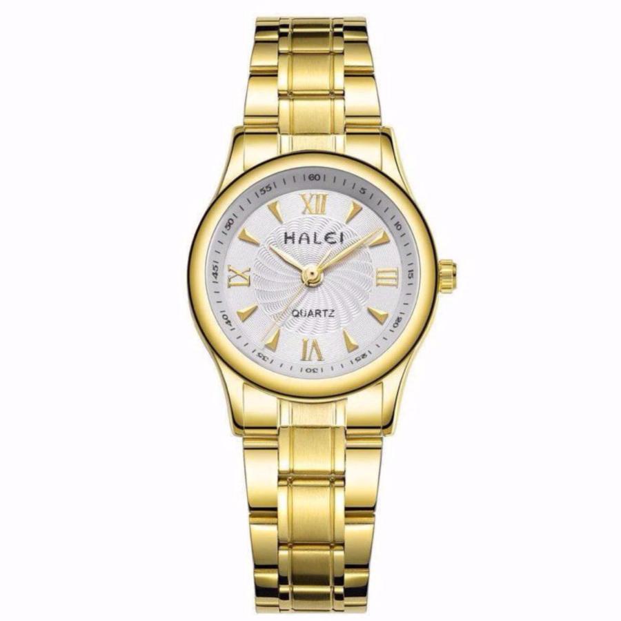 Đồng hồ nữ Halei 159 mặt trắng chống nước