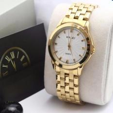Cách mua Đồng hồ nữ Halei 501 dây thép mặt trắng chống nước